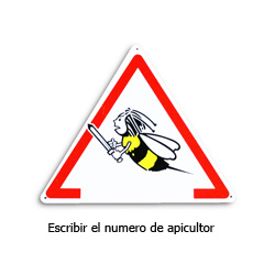 bees-danger-triangular-poster