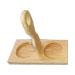 Base in legno con manico per 2 lattine da 1kg di m