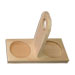 Holzsockel mit Griff für 2 0,5 kg Honiggläser.