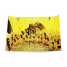45 x 30cm poster bee perched on sunflower flower.