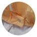 Gelbe Polyamid-Doppelstrickbluse mit Maske.