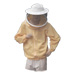 Yellow polyamide double knitted blouse with mask.