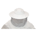 White blouse sturdy fabric round face zipper