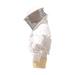 Bluson blanco tela recia careta redonda cremallera