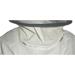 Blusa bianca con rete zip in tessuto double face M