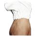 Brusa doble teixit blanc poliamida amb careta.