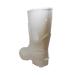 Half round white rubber beekeeper boots.