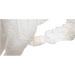 Chiusura con zip bianca leggera