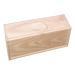 Geschenkbox aus Holz mit drei 1 kg Honigtöpfen.