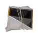 Careta cuadrada rígida fibra aluminio.