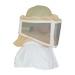 Quadratische Reißverschlussmaske für Imkerhelm.