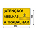 Poster Aufmerksamkeit Bienen arbeiten Portugiesisc