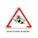 Cartel triangular peligro abejas