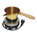 Electric stove to heat wax pans.