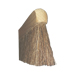 Brush unbend two rows bristle horse