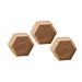 Jabón hexagonal miel y chocolate 100gr.-42ud.