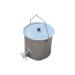 Edelstahl Honigeimer mit Deckel und Ventil 25kg