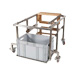 Support for layens uncapping machine.