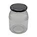 Botes cristal 1kg con celdilla miel-bandeja 127ud.