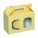 Caja cartón con hexágonos dos botes 0,5kg miel.