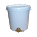 40kg plastic bucket with lid and valve.