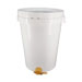 80kg plastic bucket with lid and valve.