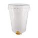 Cubo de plástico de 80kg con tapa y válvula-ud.