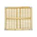 Wooden frame bamboo queen excluder