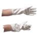 Robuster Imker mit weißen Skay-Handschuhen.