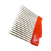 Economic stainless barbed uncapping comb.