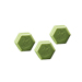 Honey and olive oil hexagonal soap 100gr.-42ud