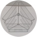 Universal zinc-plated cage for 3 frames.