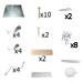 Kit Brico 006-Dadant Hive Hardware 10 cadres