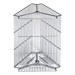 Stainless cage for 3 langstroth frames.