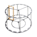 Jaula inoxidable radial 9c langstroth/18c 48x17cm.