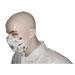 Máscara de apicultor de abelhas brancas.