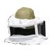 Careta cuadrada con malla para casco apicultor.