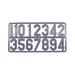 Placa de números de pvc.