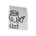 Beekeeper white sticker.