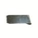 Kamm aus gehärtetem Stahl zum Reinigen von Ausschl