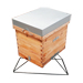 Light support for triangular layens hive