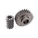 Juego rueda-sinfin metálico para extractor.