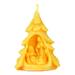 Figurine de cire en forme de sapin.